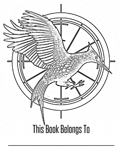 hunger games coloring pages printable - free the hunger games printables with catching fire