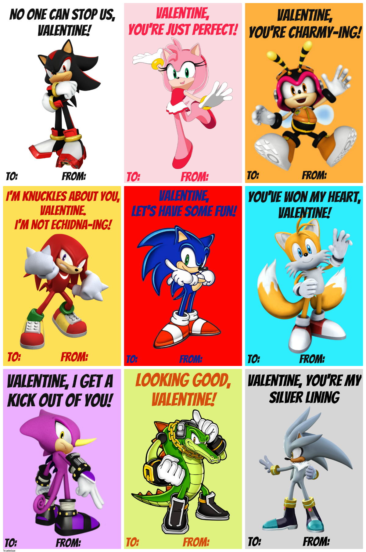 Free Printable Sonic Valentines THE LUNCHBOX SEASON