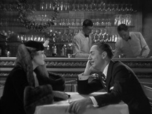 Nick and Nora Charles about to get their drink on in The Thin Man