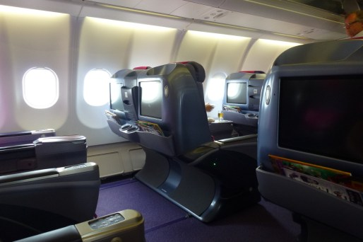 Thai Airways Business Class - Seat on side