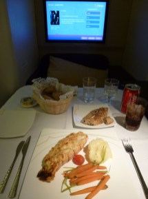 Thai Airways Royal First Class - Grilled lobster