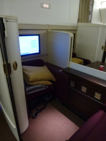 Thai Airways Royal First Class - Mini suite open