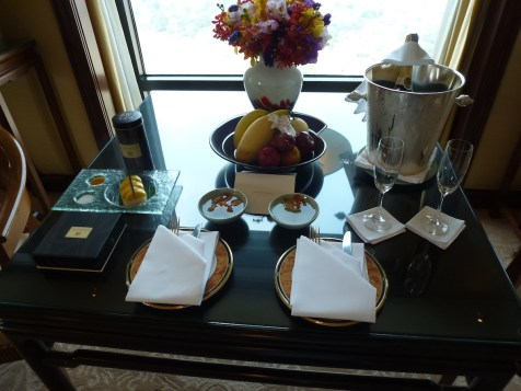 Peninsula Bangkok - Terrace Suite welcome amenities