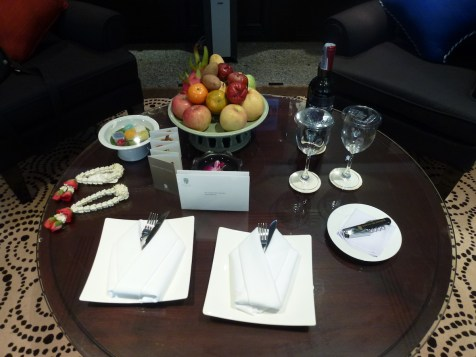 Banyan Tree Bangkok - Presidential Suite welcome amenities
