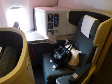 Cathay Pacific Business Class A330 - Seat