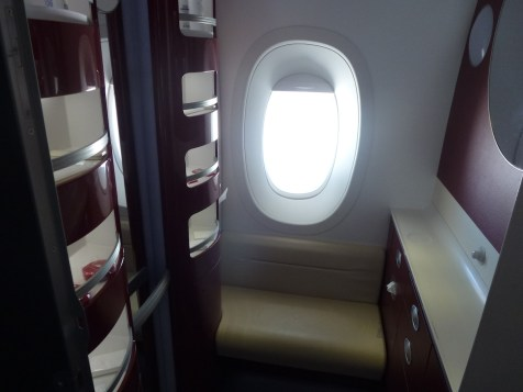 Air France First Class A380 - Changing room