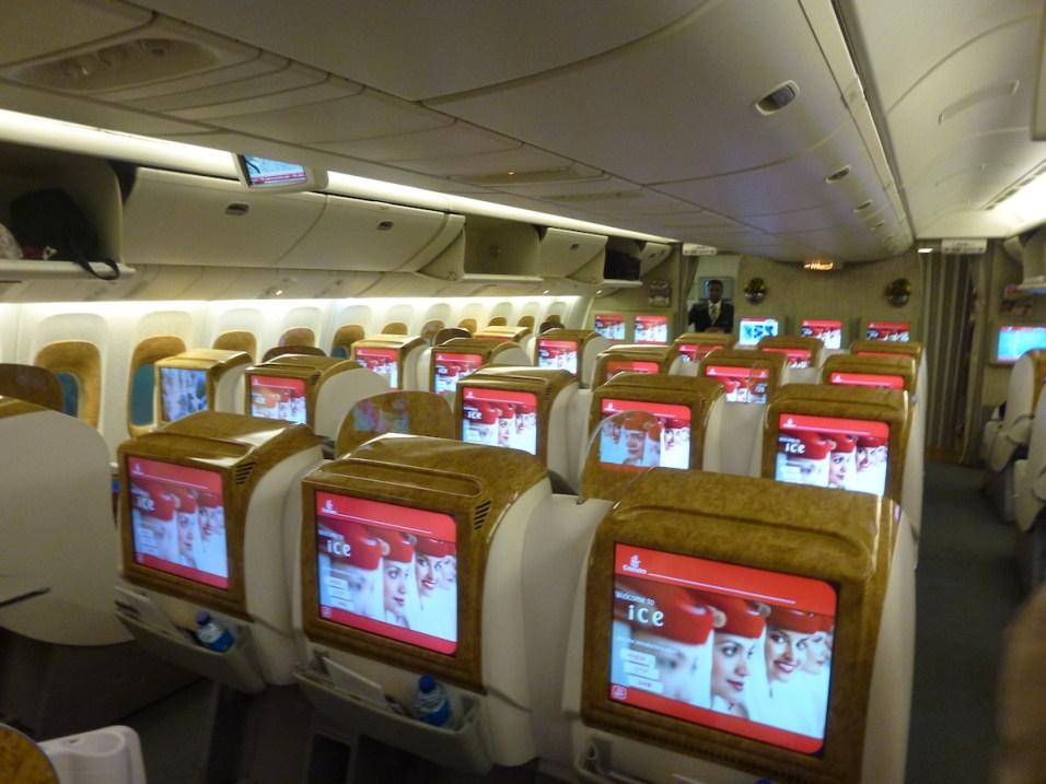 Emirates Business Class - Cabin