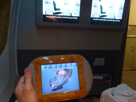 Emirates Business Class - Entertainment system