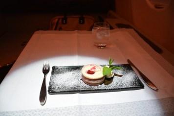 Qatar Airways First Class - Dinner dessert