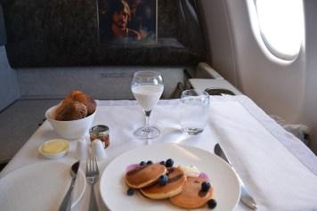Qatar Airways First Class - Breakfast