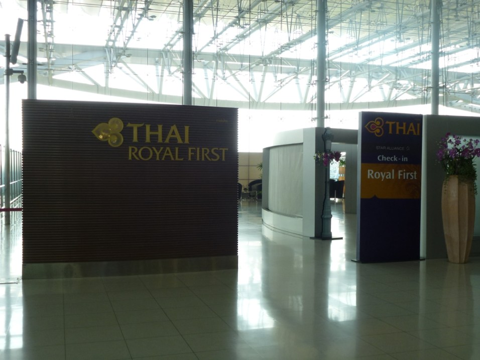 Royal First Class dedicated Check-in