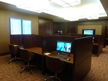 Emirates Business Class Lounge Dubai - Communication center