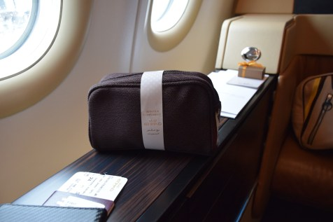 Etihad Airways Diamond First Class amenities