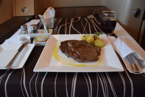 Etihad Airways Diamond First Class - DInner main dish
