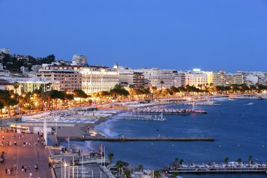 Cannes La Croisette by night