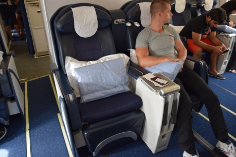 Air Seychelles Business Class - Middle seats