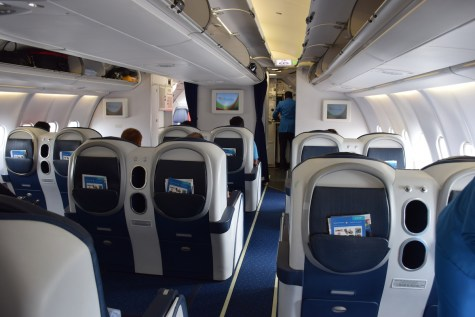 Air Seychelles Business Class - Cabin back