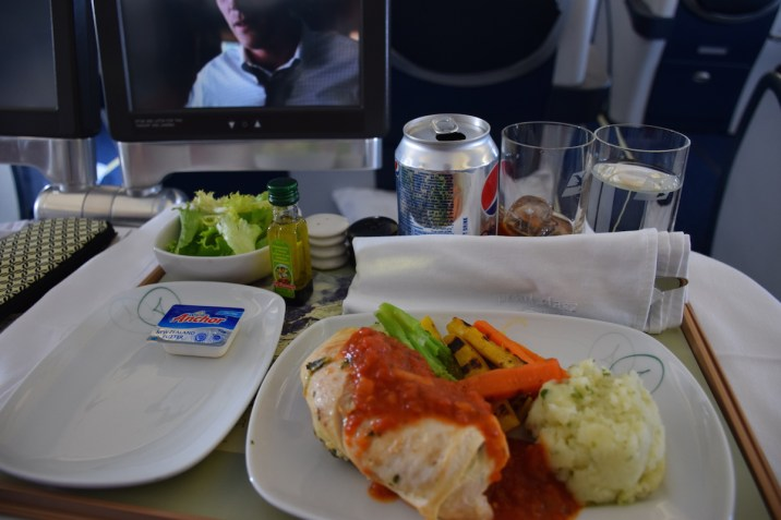 Air Seychelles Business Class - Lunch catering