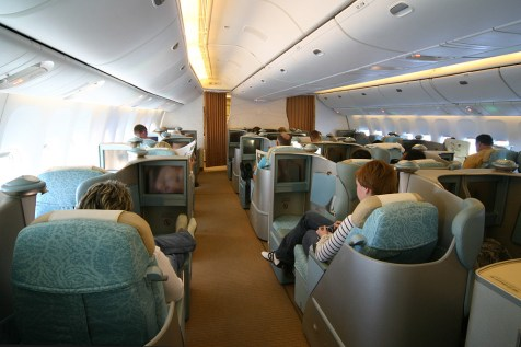 Etihad Airways Pearl Business Class - Cabin