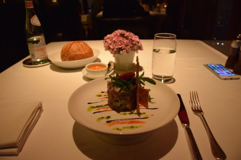 Park Hyatt Beijing - China Grill tuna appetizer by Chef Diviki