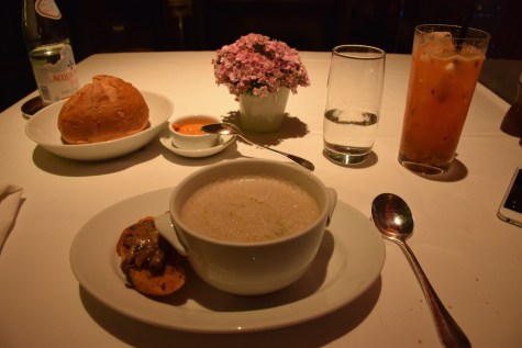 Park Hyatt Beijing - China Grill muschroom soup by Chef Diviki