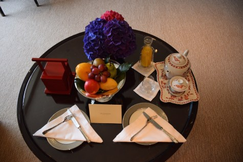 Peninsula Hong Kong - Deluxe Harbour View Suite welcome amenities