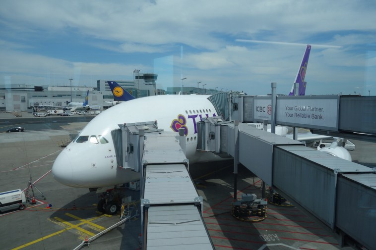 Thai Airways A380 Royal First Class - Boarding