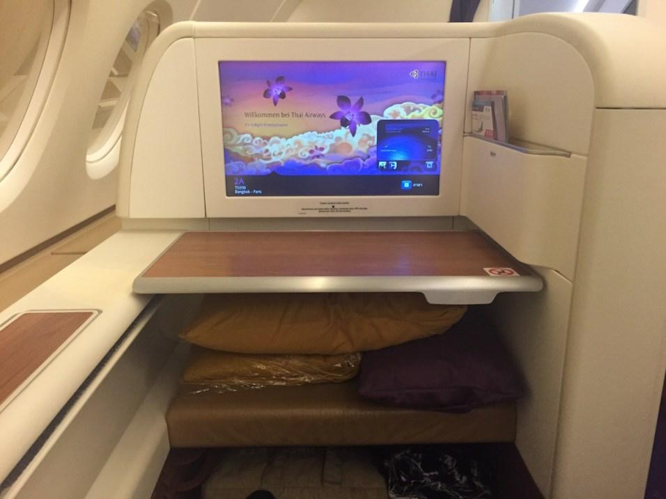 Thai Airways A380 Royal First Class - Window seat 2A