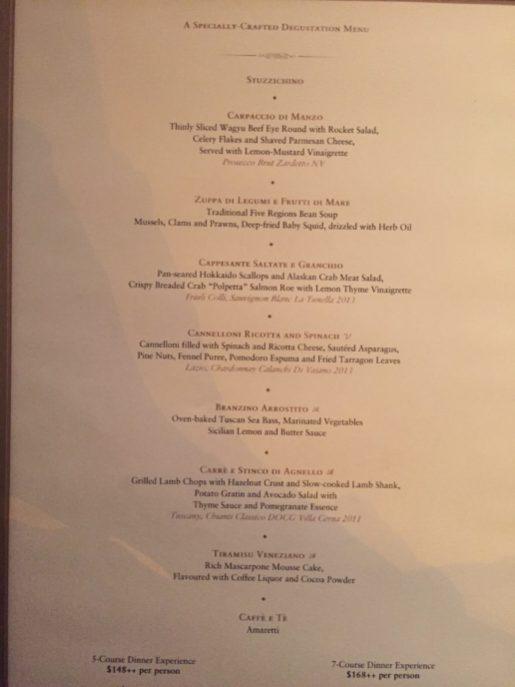 St Regis Singapore - Labrezza restaurant Degustation menu