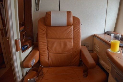 Singapore Airlines A380 Suites - Leather seat