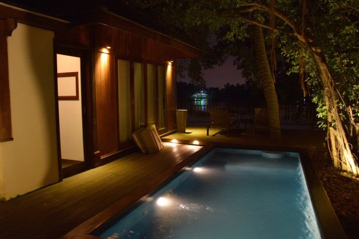 An Lam Saigon River - Riverfront Pool villa by night