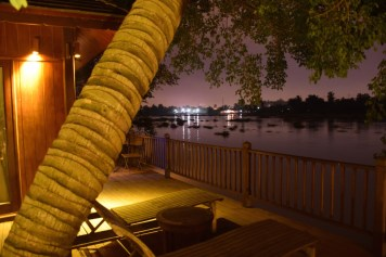An Lam Saigon River - Riverfront Pool villa terrace by night