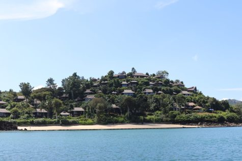 Resort's view from arrival boat
