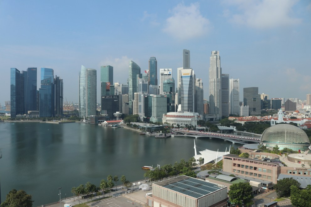Skyline view from Club Marina Bay Room