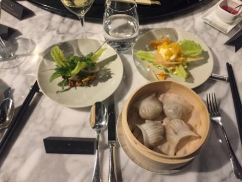 Alain Ducasse 8-course dinner - Second starters