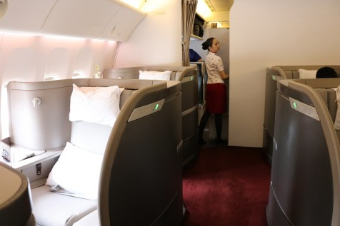 First Class cabin on Boeing 777-300ER