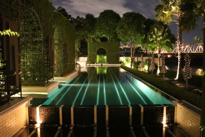 Outdoor Pool by night - The Siam Hotel