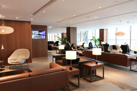 Cathay Pacific Business Class lounge at Bangkok airport