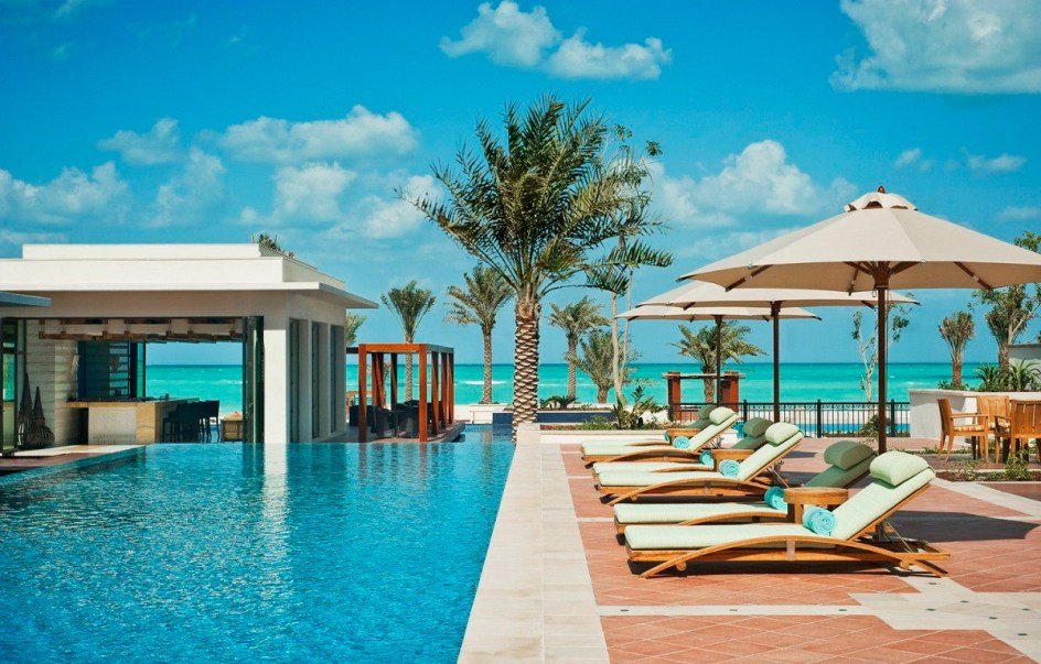 St Regis Saadiyat main pool and beach