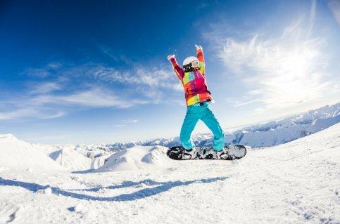 Snowboarding in La Tania
