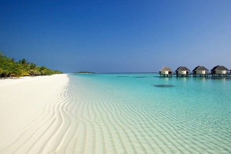 White sand beach in Maldives