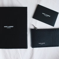 New In: Saint Laurent 'Paris' 5 Fragments Zip Pouch