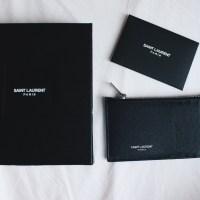 New In: Saint Laurent 'Paris' 5 Fragments Zip Pouch