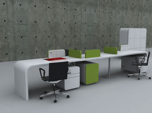 Futuristic Concept Office Desk Office Furniture Design by