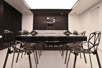 Hybrid Office Conference Table and Desk Futuristic Design
