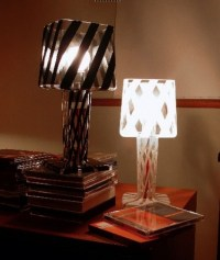 Black and White Contemporary Glass Table Lamps for ...