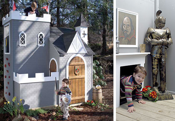 Luxury Playhouse en forma de castillo. Haz clic para comprarlo