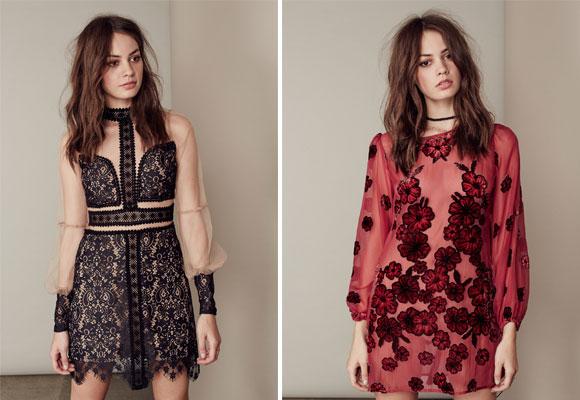 for love & lemons - lace mini dress y burgendy dress