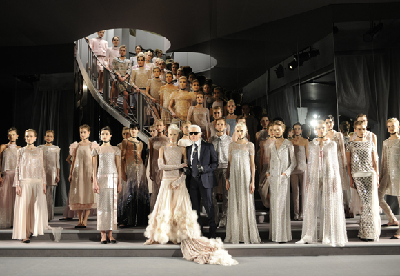 Los desfiles de Lagerfeld, cada año más originales