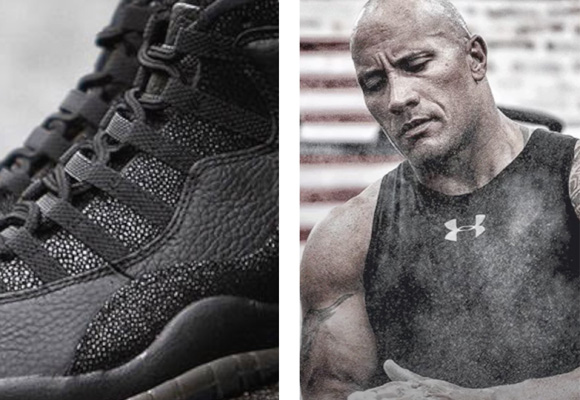 under armour rock. las propuestas de the rock incluyen ropa y zapatillas flexibles resistentes under armour